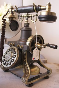 "Old awesome phone by A Bella Life, via Flickr. Im sure kids today would look at this and be like..""mommy/daddy... What is this huge contraption?"""