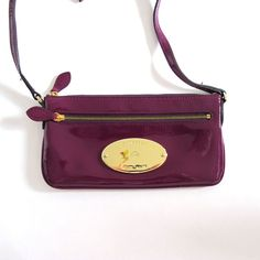 PRE-LOVED Small Mulberry Evening Bag in Patent Purple Leather via cherryedit. Click on the image to see more!
