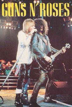 Slash and Axel💞 Axl Rose, Guns N Roses, Pop Rock, Rock N Roll, Iron Maiden, Pink Floyd, The Beatles, Digital Foto, Rock Band Posters