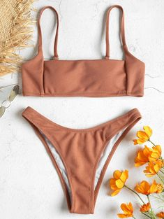 a75e3b08be US $10.99 49% OFF|Women 2018 New Rib High Leg Bikini Set Spaghetti Straps  Solid High Cut Bikinis Bathing Suit Thong Swimsuit Female Swimwear -in  Bikinis Set ...