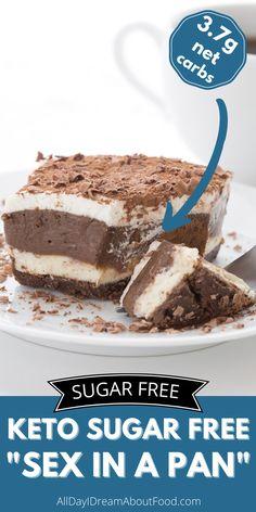 Sugar Free Deserts, Sugar Free Sweets, Low Carb Deserts, Low Carb Sweets, Sugar Free Recipes, Healthy Sweets, Low Carb Recipes, Healthier Desserts, Diabetic Friendly Desserts