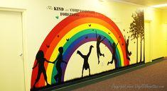 Children's Area Decor: Children Playing Wall Silhouette Vinyl Decals for kids School Wall Decoration, Art Classroom Decor, School Decorations, Kids Church Decor, Kids Church Rooms, Mural Art, Wall Murals, Wall Art, Sunday School Rooms