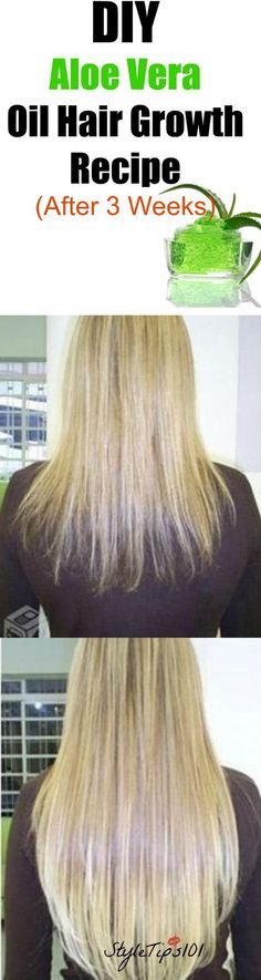 DIY Aloe Vera Oil For Hair Growth #hairlossnaturalremedies