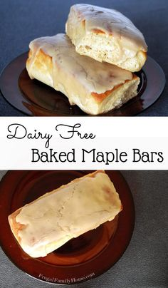 Here& an easy breakfast recipe that is also dairy free. I made these baked maple bars and they were delicious. Best Breakfast Recipes, Best Dessert Recipes, Sweet Recipes, Brunch Recipes, Breakfast Ideas, Brunch Ideas, Vegan Breakfast, Yummy Recipes, Keto Recipes
