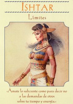 """Daily Angel Oracle Card: Ishtar ~ Boundaries, from the Goddess Guidance Oracle Card deck, by Doreen Virtue, Ph.D Ishtar ~ Boundaries: """"Love yourself enough to say no to others' demands … Doreen Virtue, Ishtar Goddess, Norse Goddess, Egyptian Goddess, Cho Ku Rei, Angel Guidance, Todays Reading, Angel Prayers, Oracle Tarot"""