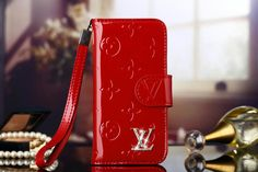 Outlet Real Leather LV iPhone 6s/6s Plus Wallet Case - Red - Luxury iPhone6S Case