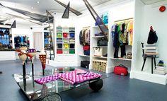 LOOK 1 - Mark McNairy Assortment of Smiley Bandanas £20.00   LOOK 2 - Jim Drain Hearts Sweater $700.00
