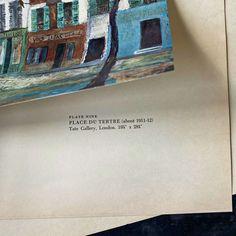 (1) Vintage 1950s Utrillo Art Print - Place Du Tertre 11x14 - Abrams Art P – In The Vintage Kitchen Shop Place Du Tertre, Architectural Pattern, Lost Paradise, Print Place, Tate Gallery, Modigliani, New York Art, Painting Prints, Paintings