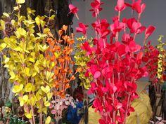 Khadi Exhibition Cum Sale: Artificial flowers  Photographed by: P. Ranreiphi Kharei