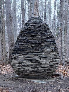 andy goldsworthy's egg in the forest | www.resurrectionfern.… | Flickr