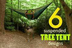 29 Freaky Smart Products Which Will Make You Want To Go Camping 6 Suspended Tree Tents For a Lighter-Than-Air Camping Experience - (Inhabitat) These would be great for a backyard getaway too!