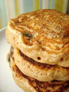 light blueberry buttermilk whole wheat pancakes...yum!