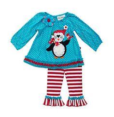 Rare Editions® Baby Girls' Penguin Leggings Set
