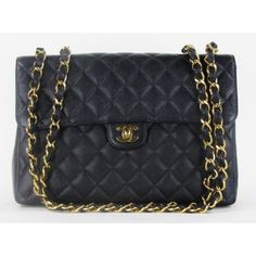 #Chanel Jumbo Single Flap Classic Black Quilted Caviar Leather:: - mynucerity.biz/iloveit