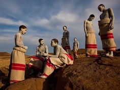 Africa   Xhosa Teens, initiated into manhood in a centuries-old circumcision ritual called ulwaluko, stay in seclusion outside their Eastern Cape village, wrapped in ceremonial blankets and painted with white clay for purification. Hospital surgeries reduce the infection rate, but many boys opt for the old rite.   Photograph by James Nachtwey, National Geographic