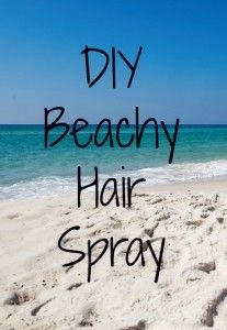 DIY Beachy Hair Spray | Budget Savvy Diva