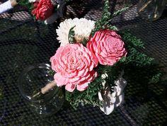 Sola flower centerpiece wedding table by Valleyflowerdesign