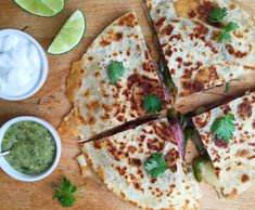 We upgrade a classic steak quesadilla with a spicy green pepper sauce.Get the recipe: Grilled Skirt Steak Quesadillas with Tomatillo Sauce Steak Dinner Recipes, Steak Recipes, Grilling Recipes, Sauce Recipes, Cooking Recipes, Steak Dinners, Grilling Ideas, Crockpot Recipes, Easy Recipes