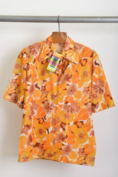 camisa masculina / poly jersey / floral / anos 70' / tam.M / ♥ 80,