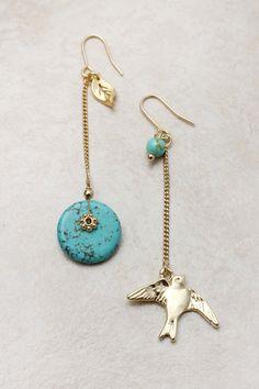 Turquoise Jay Earrings on Emma Stine Limited