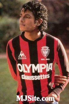 Michael Jackson sous le maillot de l'OGC Nice