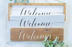 Welcome Sign Wood Sign Home Decor Wall Art Welcome