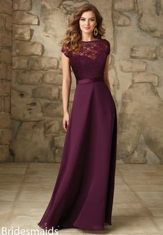 Image result for silver bridesmaid dress with plum bouquet