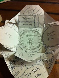 handmade Maurader's Map!