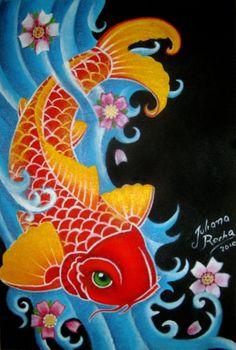 Koi fish painting | Koi fish by ~JMisfit on deviantART