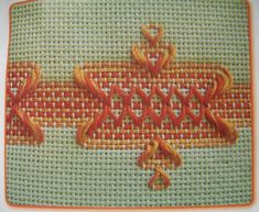 Can do on Monk, Aida, or Huck Huck Towels, Swedish Weaving Patterns, Swedish Embroidery, Monks Cloth, Bargello, Cross Stitch Embroidery, Needlework, Diy And Crafts, Blanket