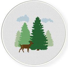 FREE for Feb 13 2014 Only - Forest Fawn Cross Stitch Pattern