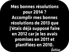Mes bonnes résolutions pour 2014 ?