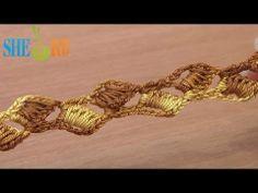 Tejido de punto de ganchillo cordón Lección 2 Hermosa cordón suave