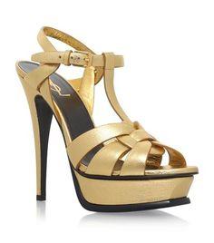 SAINT LAURENT Tribute Sandals 105. #saintlaurent #shoes #