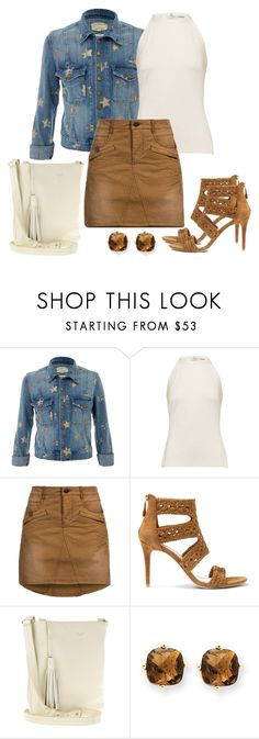 """Untitled #1370"" by gallant81 ❤ liked on Polyvore featuring Current/Elliott, L'Agence, Khujo, Sandro, Radley and Kevin Jewelers"