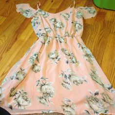 Charlotte Russe dress New Size small new with tags! Pale pink with flowers. Cute! Charlotte Russe Dresses
