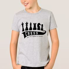 Sport Chess, Kid's t-shirt, wit-t-shirt T-Shirt - click/tap to personalize and buy