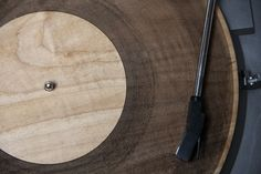 lasercut wooden record