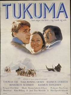 Tukuma (Palle Kjærulff-Schmidt, DK, 1984) The director Palle Kjærulff-Schmidt collaborated with Klaus Rifbjerg and Greenlander J. T. Motzfeldt on the script for this film about a continental Dane's search for his lost brother in the wilderness of Greenland.  http://www.dfi.dk/faktaomfilm/film/da/351.aspx?id=351