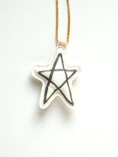 Star Pendant Necklace by KidsInNagano on Etsy