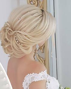 Loose Hairstyles, Bride Hairstyles, Peinado Updo, Medium Hair Styles, Short Hair Styles, Pageant Hair, Hair Upstyles, Bridal Hairdo, Elegant Wedding Hair