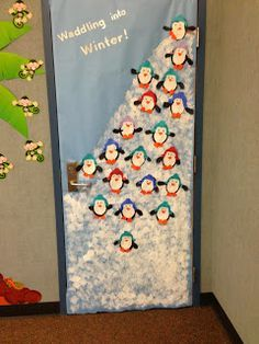 Risultati immagini per winter classroom door decorations