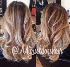 Medium Length Blonde Bayalage