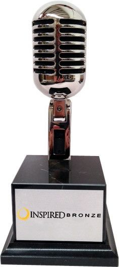 Vintage Microphone Award... add your custom verbiage to the face plate!