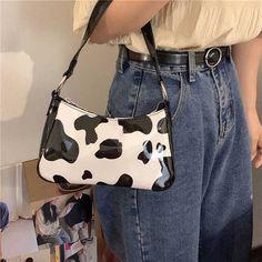 Cute Handbags, Purses And Handbags, Small Handbags, Vintage Bags, Vintage Handbags, Baguette, Bag Women, Cow Pattern, Handbag Patterns