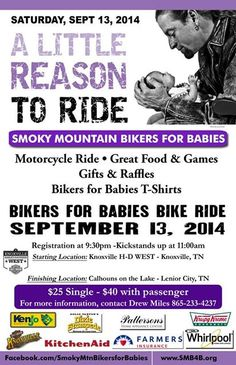 Knoxville, TN - Sept. 13, 2014: Bikers for Babies - A Little Reason to Ride benefiting March of Dimes.
