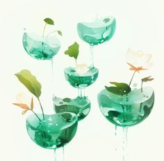 the hovering ponds., an art print by Vi - INPRNT