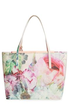 Crushing on this lush peony print Ted Baker tote.
