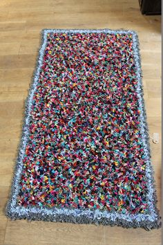 Gorgeous handmade rag rug which takes 30 hours to make with lots of love, care & attention!