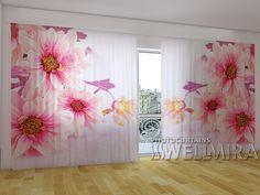 Pink Gerberas #Wellmira #ModernCurtains #PhotoCurtains #PanoramicCurtains #Foto Vorhänge #Foto cortinas